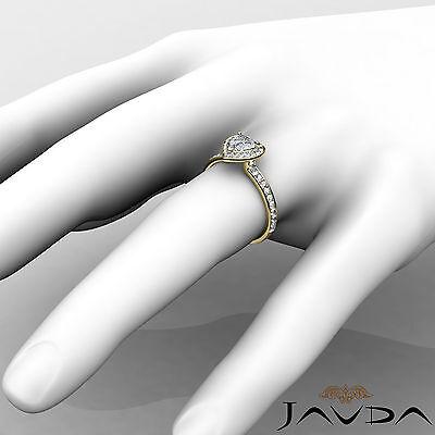 Halo Pave Set Heart Diamond Engagement Wedding Ring GIA H VS2 Yellow Gold 0.95Ct 4