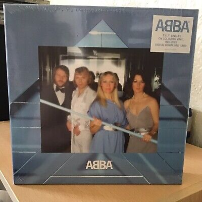 ABBA Voulez Vous The Singles 7 Inch Blue And White Splatter Vinyl...