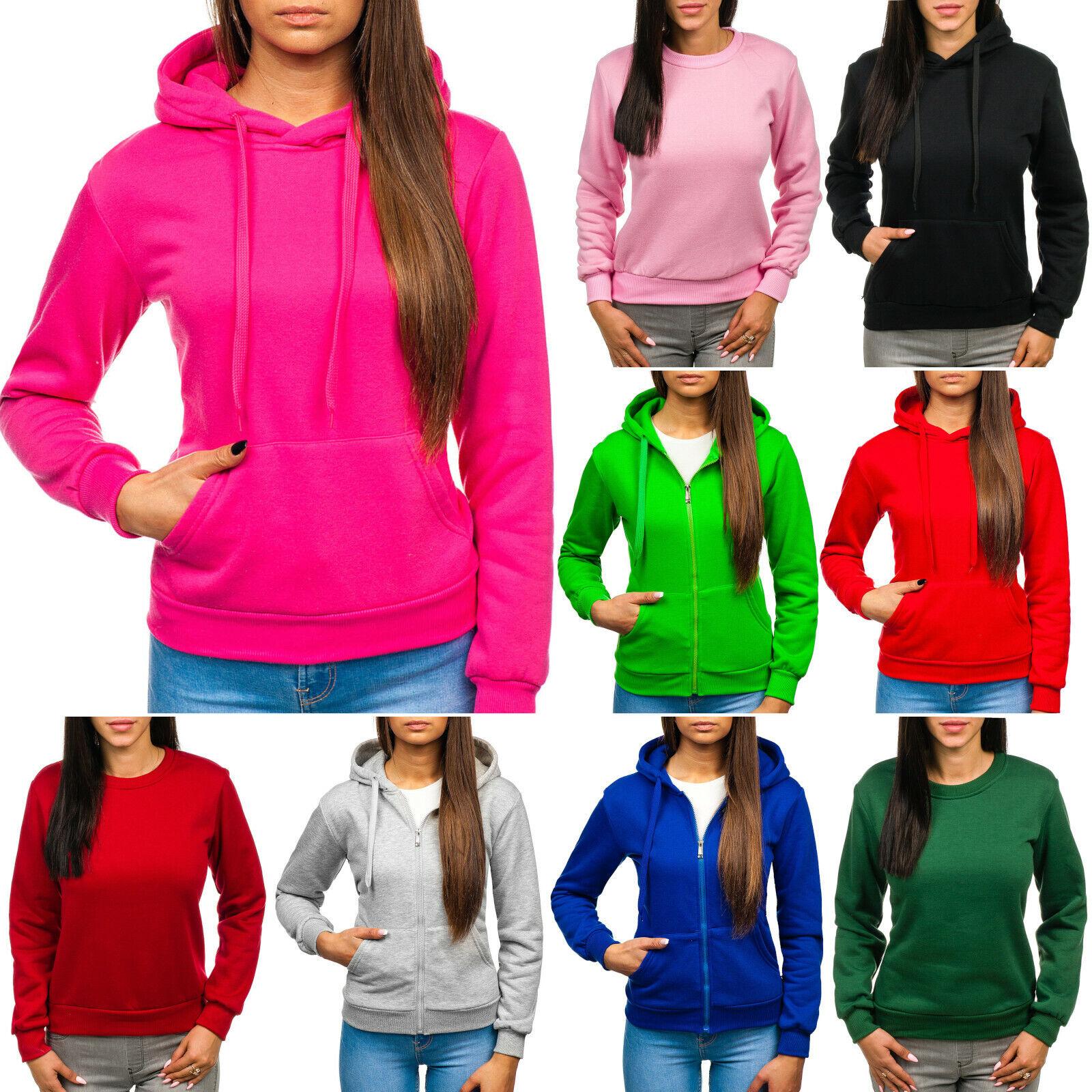 Kapuzenpullover Sweatshirt Langarmshirt Unifarben Damen BOLF Mix A1A Sport WOW