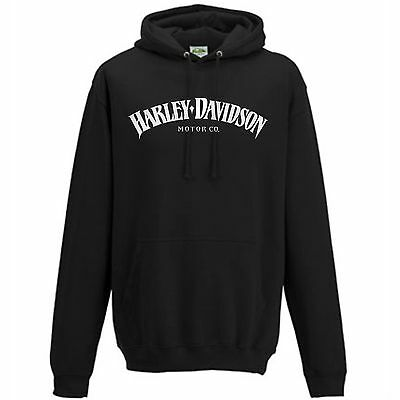 HARLEY-DAVIDSON Motorcycles HD   MOTOR CO.   HOODIE   black   S M L XL XXL NEU