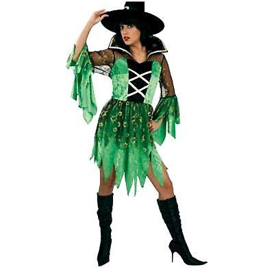 Hexe Marcella grün Gr. 36 - 42 Hexenkostüm Kleid Halloween Fasching 1211498G13