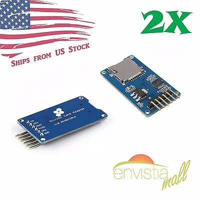 2pcs Micro Sd Tf Memory Card Reader Module With Spi Interface For Arduino