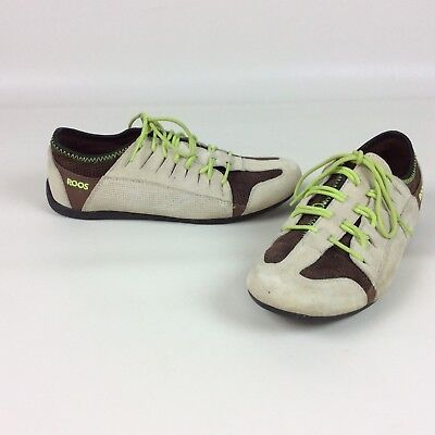 Kangaroos Womens Shoes 8 Sneakers Tennis Shoes Leather Lace Up Tan Green