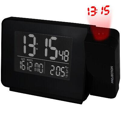 Projektion Funkwecker Temperatur Tischuhr Funkuhr Uhr Datum Wecker Alarm Digital