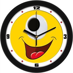 Silly Happy Cyclops Face Children's Room Decorative Wall Clock by Suntime
