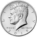 2019 P&D JOHN F. KENNEDY HALF DOLLAR /(2 Coin Set UNCIRCULATED) PRE SALE