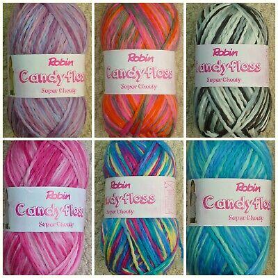 Knitting Wool 200g Candyfloss Super Chunky Yarn Robin Free Childrens Pattern