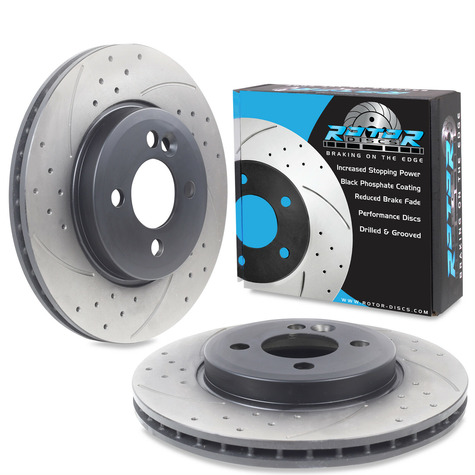 BMW Mini Clubman 1.6 Cooper R55 Front 40 Grooved Brake Discs Set