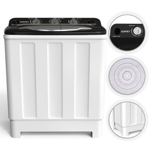 Compact Washing Machine Twin Tub Washer Spinner Dryer Portab