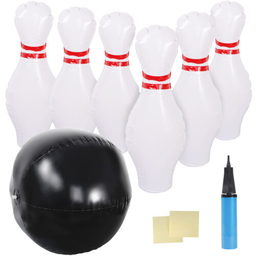 Giant Inflatable Bowling Set Kids Toddler Games Indoor Outdoor Garden Lawn Games