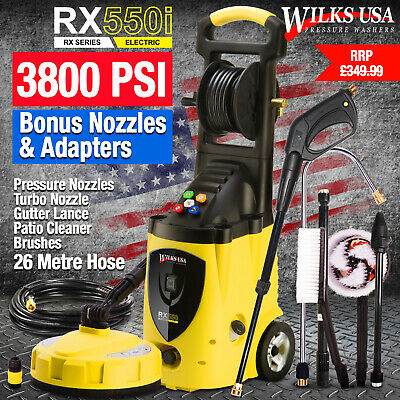 Electric High Power Pressure Washer - 3800psi Power Jet Wash Patio Car Cleaner