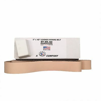 1x42 Leather Strop Honing Belt Polishing Buffing Compound Included Pro Sharp New