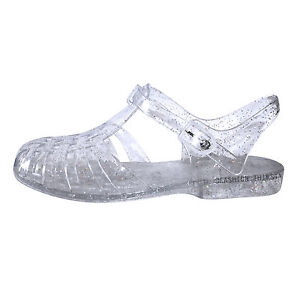 LADIES WOMENS GIRLS FLAT SUMMER BEACH RETRO JELLY SANDALS FLIP FLOPS SHOES SIZE