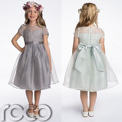 Flower Girl Dresses, Bridesmaid Dresses, Grey Dress, Green Dress, 2 - 8 years - Green Girl Dresses