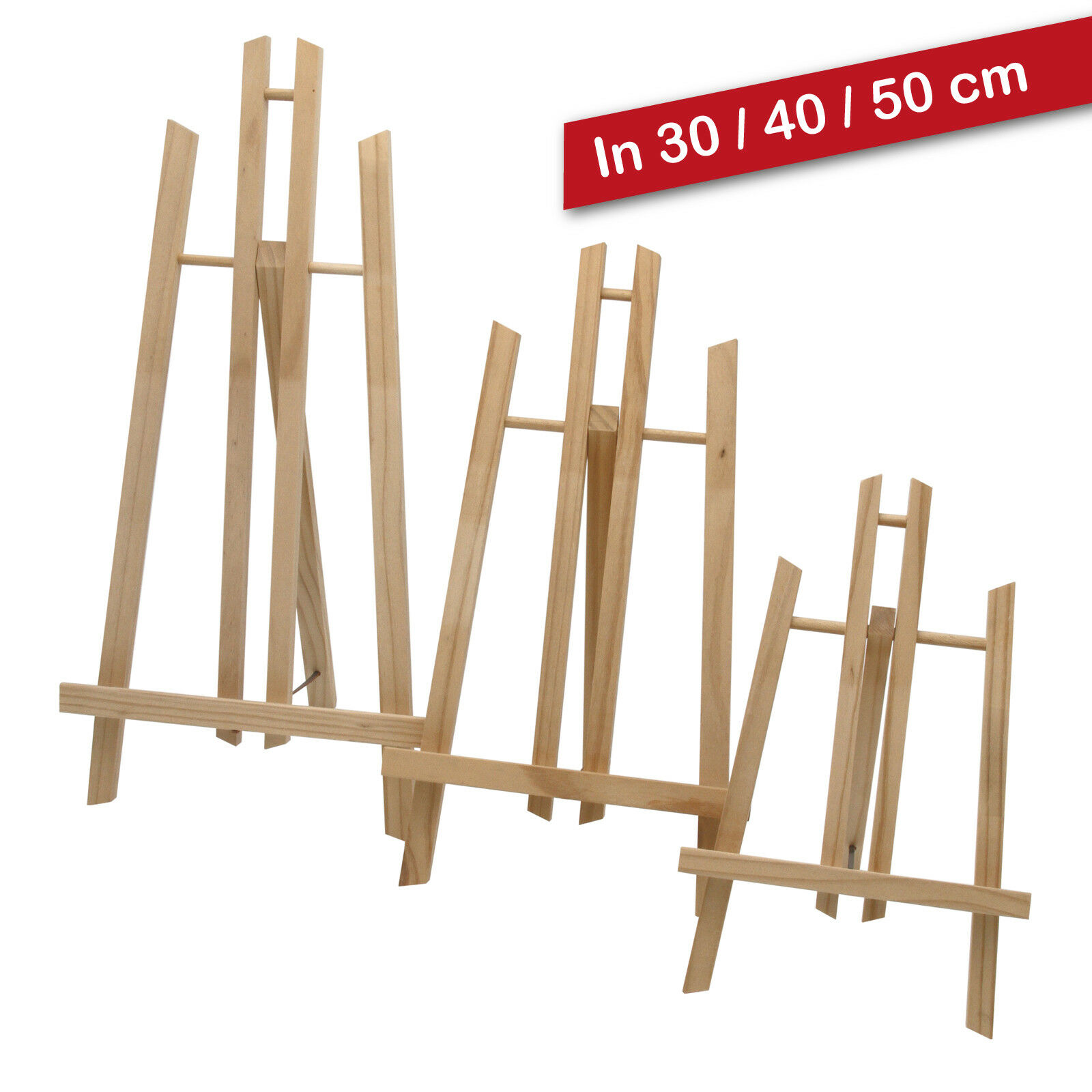 Display-/ Tischstaffelei 30-50 cm hoch, Sitz-Staffeleien, Bildhalter, Deko, Kiga