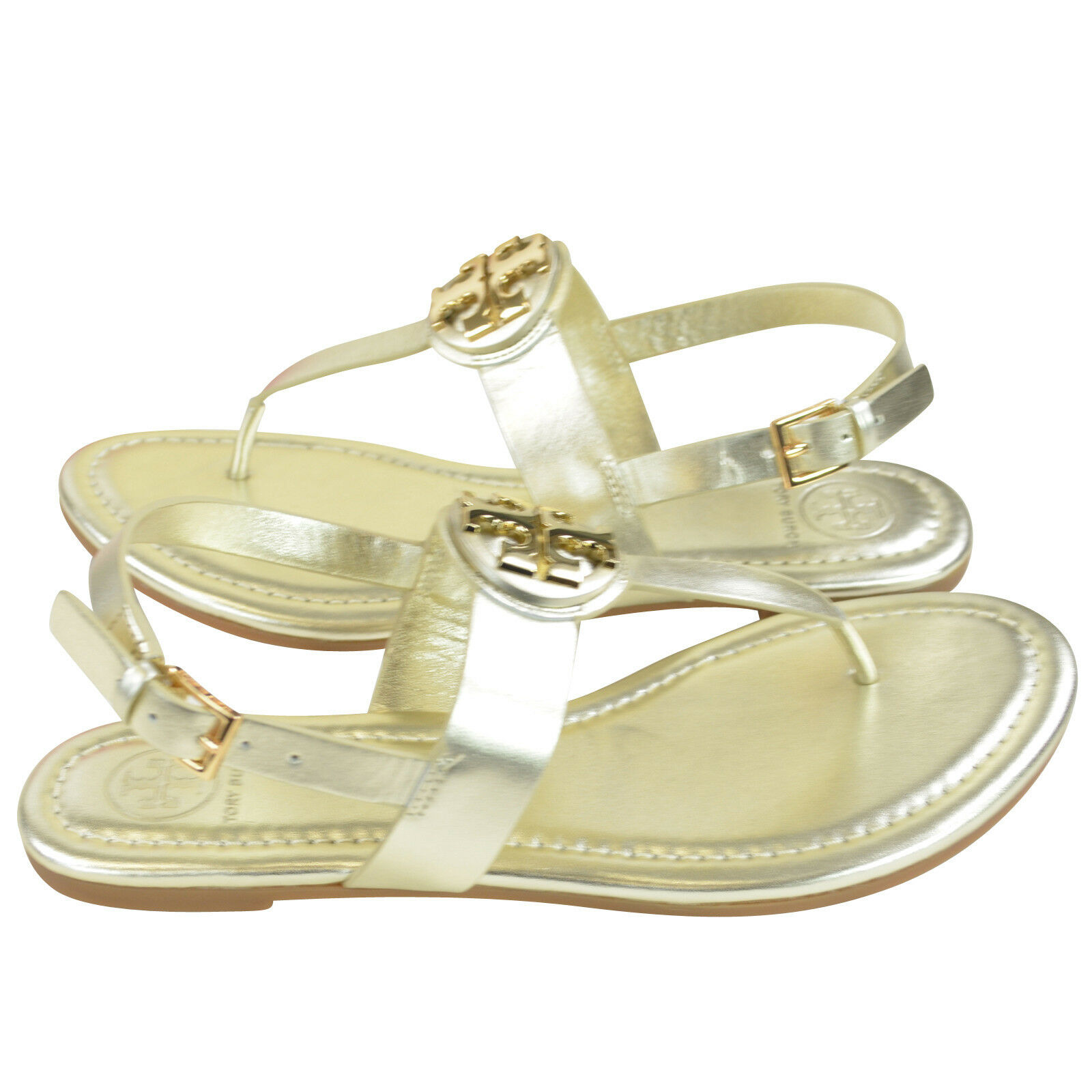 7b22aab33 A gleaming logo medallion takes center stage on a beautifully smooth thong  sandal fitted with a slim slingback strap. - Leather upper and  lining rubber sole