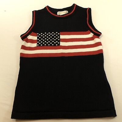 Casual Corner Sweater VINTAGE Sleeveless Red and White Stripe Size XS