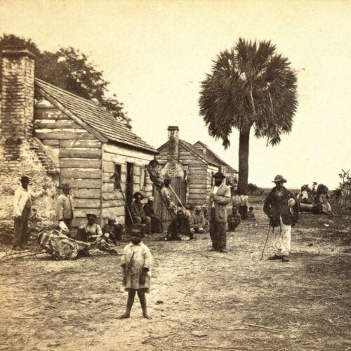 1865 Photo-African American Freedmen Outside-Fripp Plantation-South Carolina
