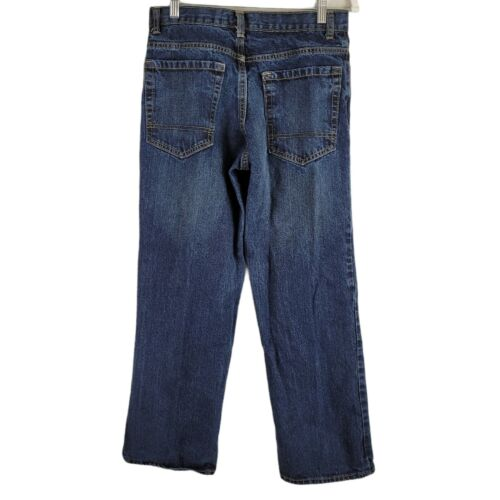 Old Navy Boys Jeans Size 14 Boys Husky Relaxed Fit Adjustable Blue Denim 28x26