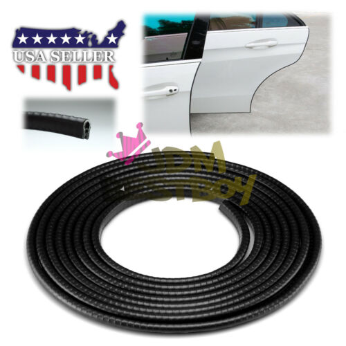 "Car Parts - 180"" Black Rubber Seal Car Door Edge Guard Molding Trim Protectors Strip EG01"