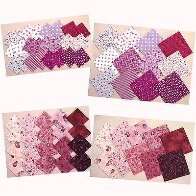 Stoffpakete Precuts Scraps 5x5 10x10 cm Patchwork Stoffe Nähen LILA von STOF