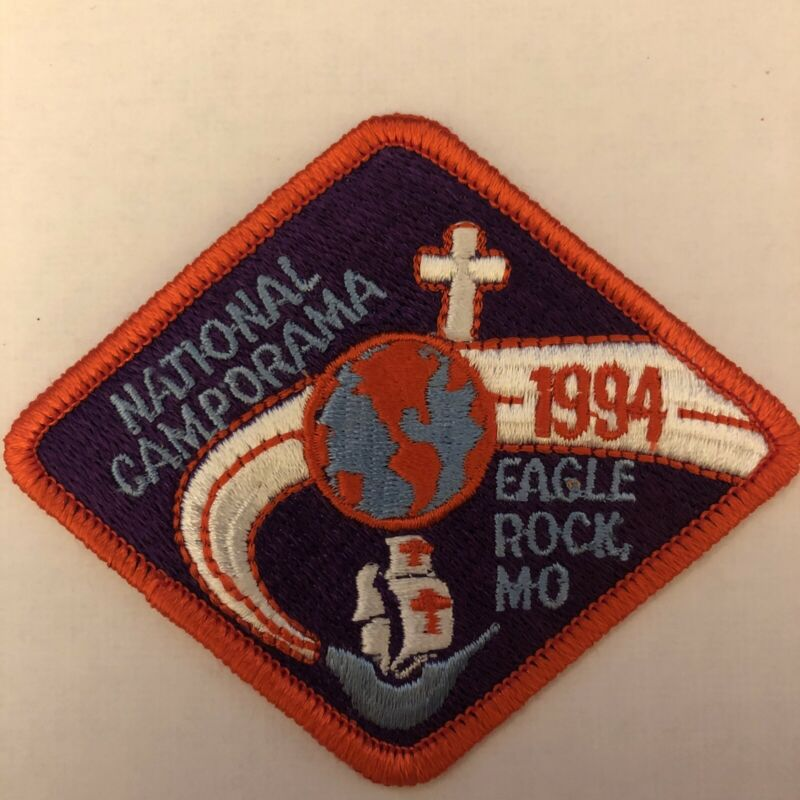 Royal Rangers Patch 1994 National Camporama Eagle Rock MO Earth 1990's