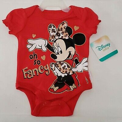 Baby Costumes 0 3 Months (NEW Disney Baby 0-3 Months Minnie Mouse Oh So Fancy Creeper Bodysuit)