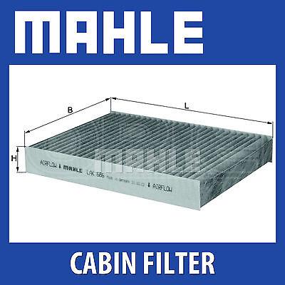MAHLE Carbon Activated Pollen Air Filter (Cabin Filter) - LAK686 (LAK 686)
