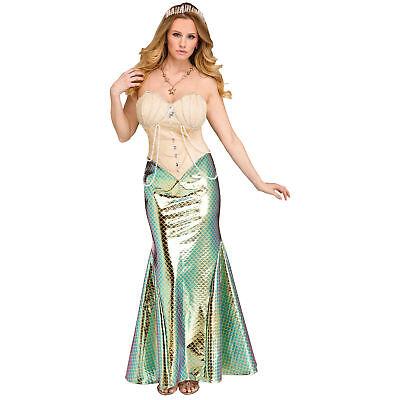 Shiny Mermaid Halloween Costume Women's Sexy Siren Fish Fancy Dress SM-LG](Fish Fancy Dress Costumes)