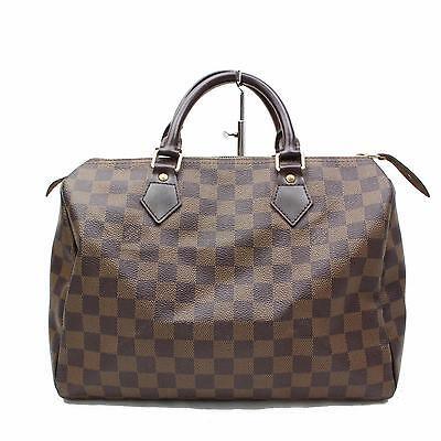 Authentic Louis Vuitton Hand Bag Speedy 30 N41364 Browns Damier 111508