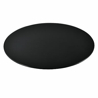 Glasplatte Ø80cm Rund Glasscheibe Tischplatte ESG Glas Kaminplatte Schwarz