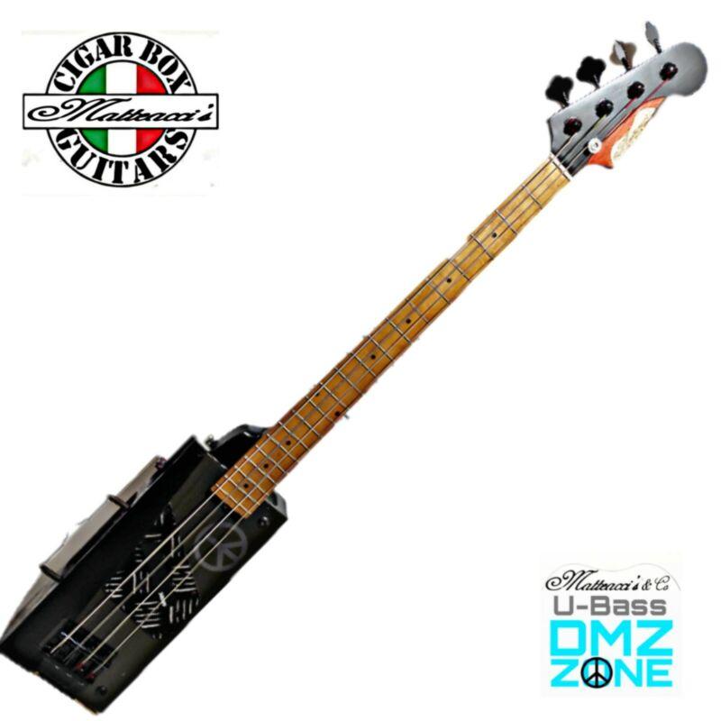 U- Bass Dmz Zone Electric Cigar Box Guitar Bass Military by Robert Matteacci