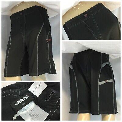 Pearl Izumi Mountain Biking Shorts L Black Poly Nylon Lycra EUC YGI (Pearl Izumi Lycra Bike Short)