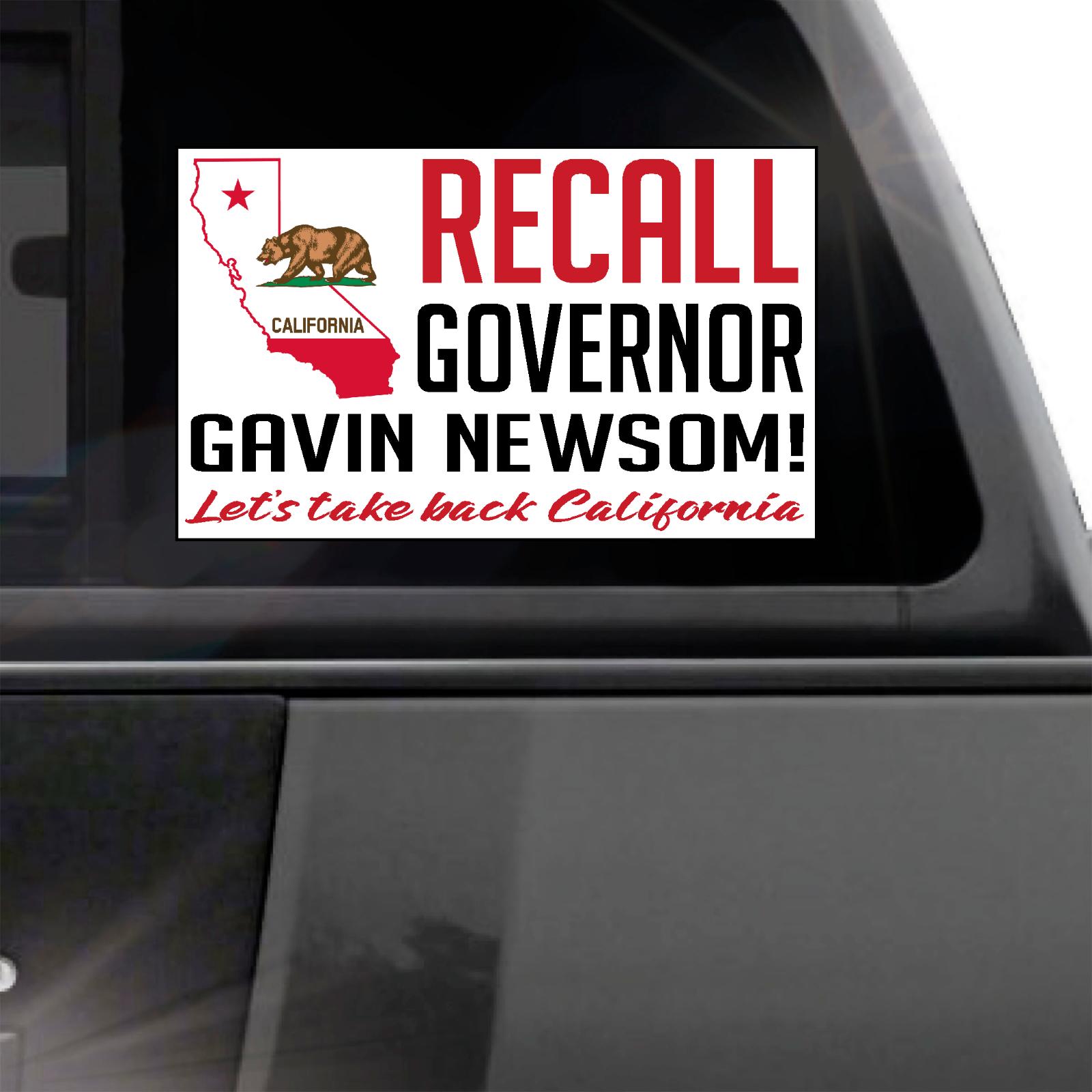 Home Decoration - RECALL California Governor Gavin Newsom window sticker decal  crime tax