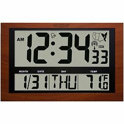 513-1211A La Crosse Technology Jumbo Atomic Digital Clock Large 4 Time Display
