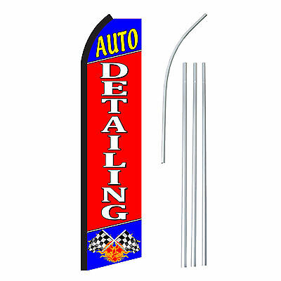 Auto Detailing - Advertising Sign Swooper Feather Banner Flag Pole Only