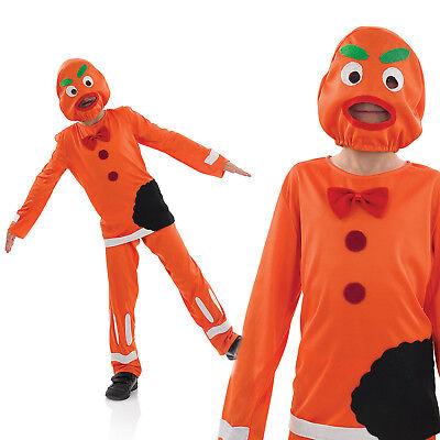 Kids Gingerbread Man Halloween Costume Childrens Boys Book Week Outfit 4-12 Yrs](Kids Gingerbread Man Costume)
