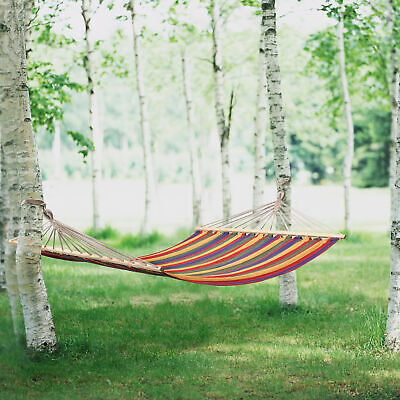 "[casa.pro]® XXL Mehrpersonen Hängematte 200kg ""COLOR"" Hängeliege Camping Outdoor"