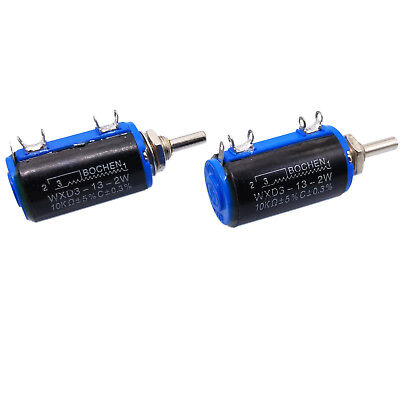 Us Stock 2x 10k Ohm Wxd3-13 Rotary Multi-turn Wirewound Precision Potentiometer