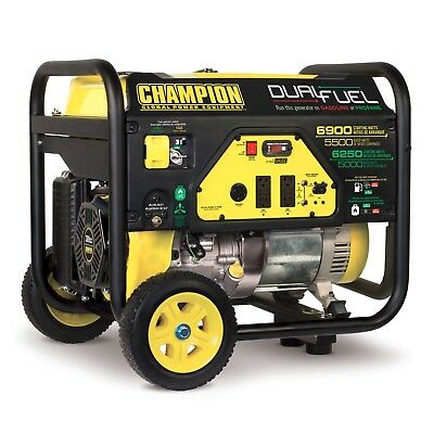 100231 - 5500/6900w Champion Dual Fuel Generator - REFURBISHED