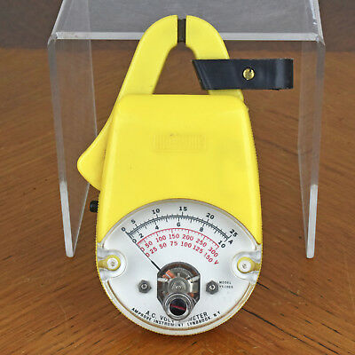 Vintage Amprobe Ac Volt Ammeter Model Vt-1025 With Case - Made In Usa