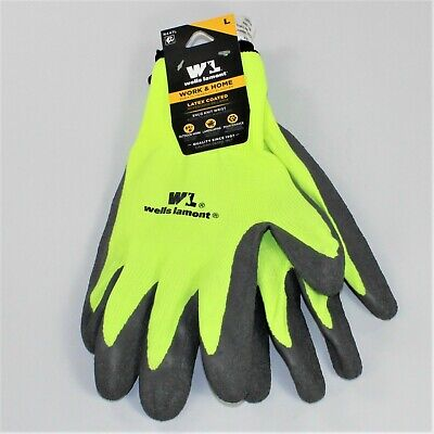 Wells Lamont Mens Latex Coated With Knit Shell Work Home Glove Large