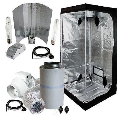Komplettset Grow-box 100x100x200cm + 400W NDL ETI Wuchs und Blüte + Abluft-Set
