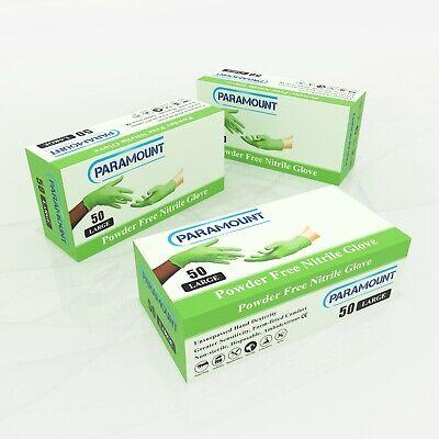 50 Pcs Mechanical Green Nitrile Glovespowder Free6millarge