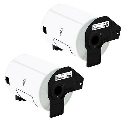 2 Roll Of Dk-1241 Shipping Labels Compatible For Brother Ql-1100 1050 4in X 6in