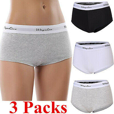 3 Packs Womens Seamless Boy Shorts Panty Underwear Cotton Panty Briefs Lingerie Seamless Boy Short Panty