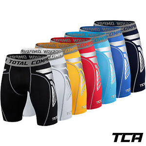 Mens-Boys-TCA-CarbonForce-Pro-Compression-Armour-Base-Layer-Shorts-Under-Skins