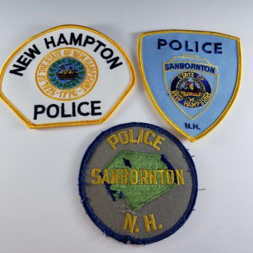 Vintage New Hampshire NH Police Sanbornton  New Hampton Patch Lot 3