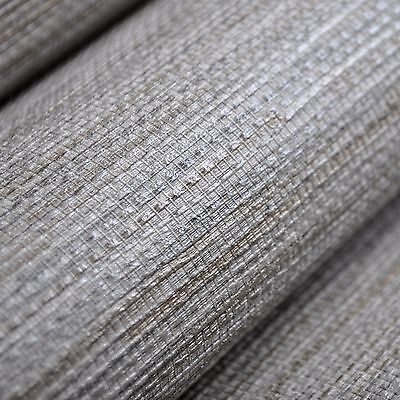 Textured Faux Grasscloth Wallpaper Roll Shimmer