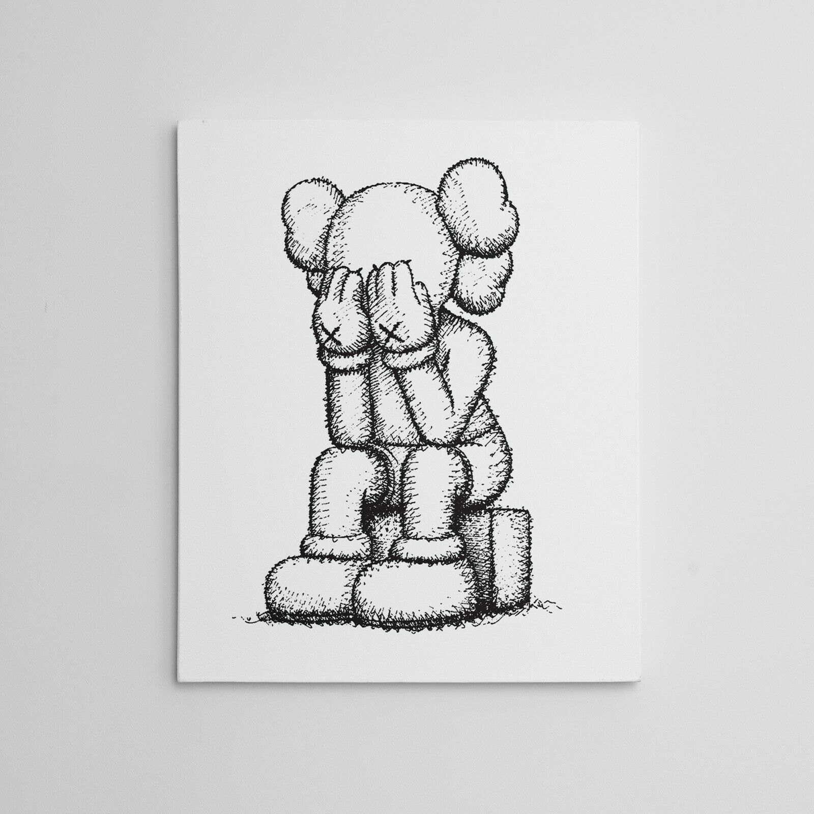 "16x20"" Kaws Medicom Companion: Passing Through Gallery Art Canvas XX Moma Hype!!"